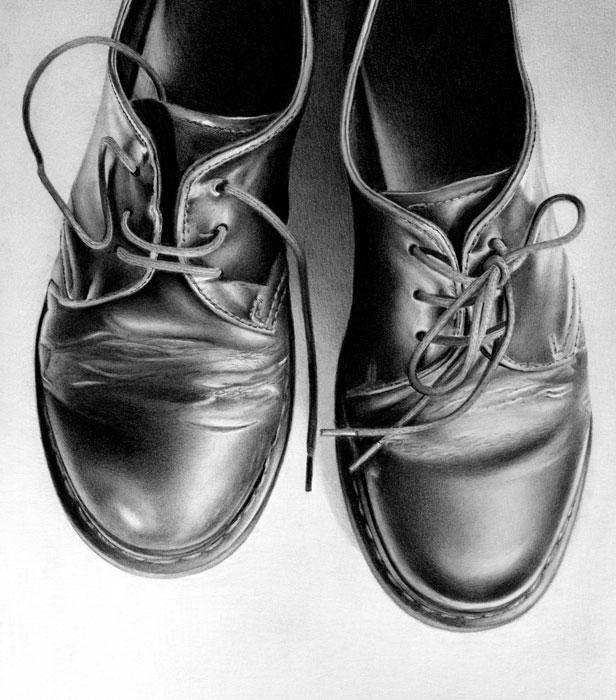 Drawn shoe charcoal 26 pencil Realistic pencil phenomenally