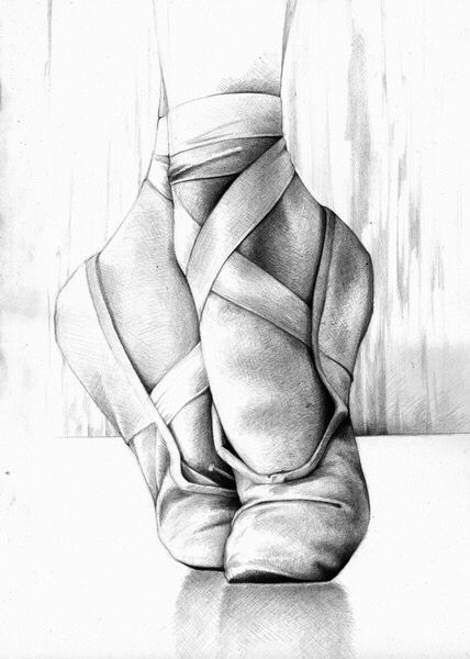 Drawn shoe charcoal 25+ Pinterest art ballet Best