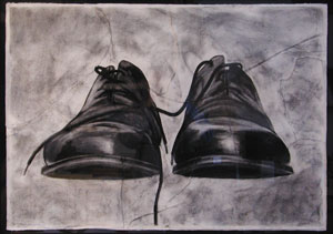 Drawn shoe charcoal X drawing Shoes 30
