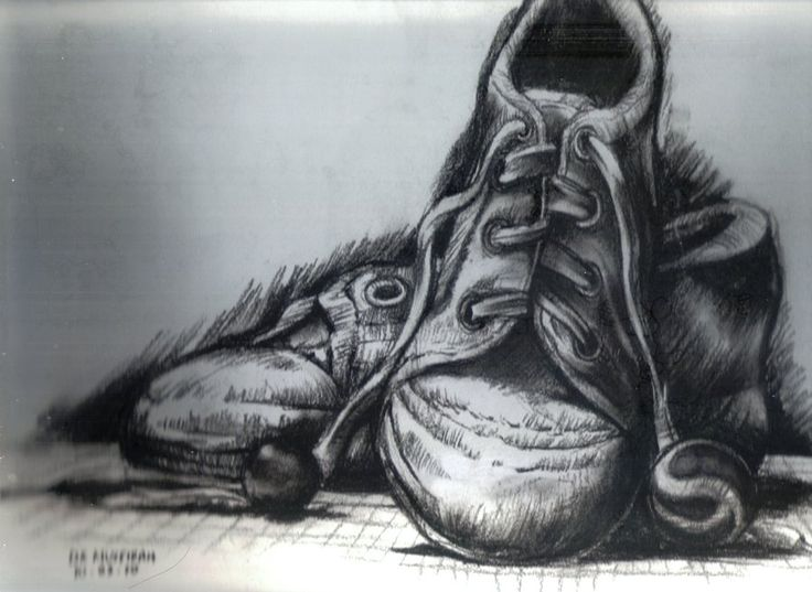 Drawn shoe charcoal Drawing detailed so cool is