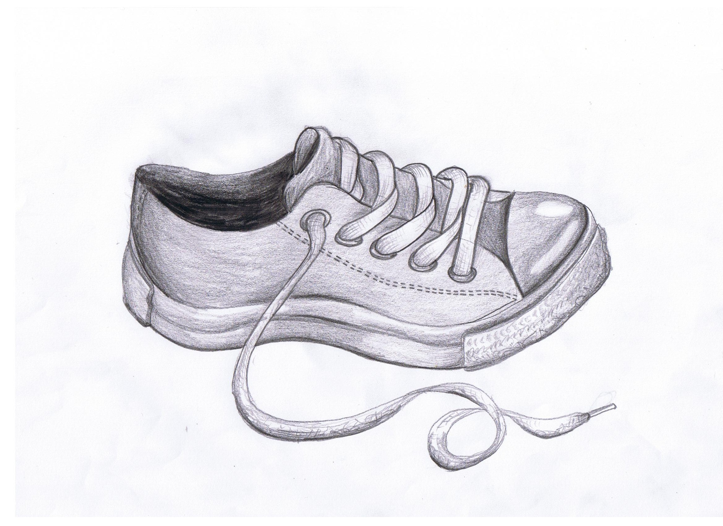 Drawn shoe charcoal Shoe Converse Pinterest drawing shoe
