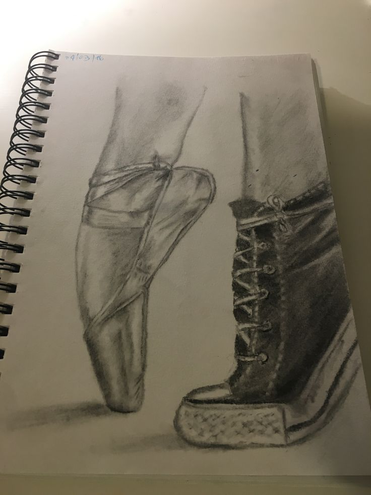 Drawn shoe charcoal And drawing Converse pointe drawing