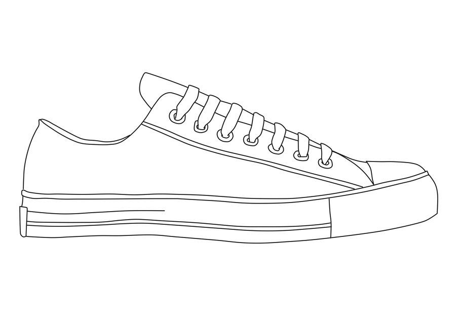 Drawn shoe chuck taylors Recent Children Page Collection Coloring