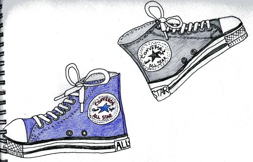 Drawn shoe chuck taylors On Chuck DeviantArt Chuck by