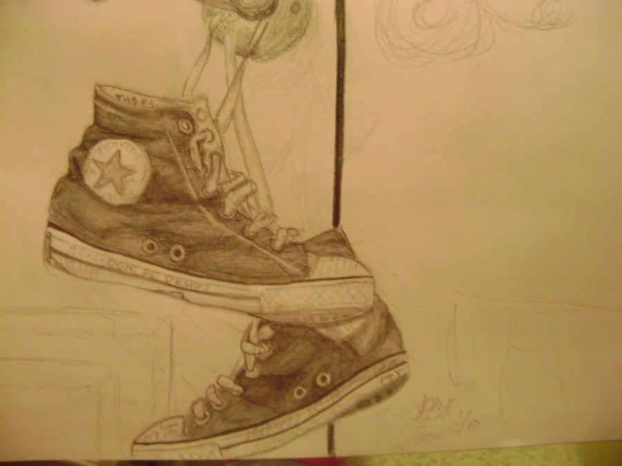 Drawn shoe chuck taylors Chuck Taylors on Chuck DeviantArt