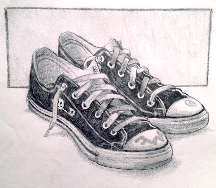 Drawn shoe chuck taylors « Chuck Serena Chuck Life