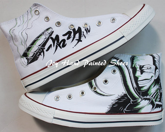 Drawn shoe chuck taylors Hand One Painted One Chuck