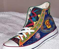 Drawn shoe chuck taylors  Taylors Custom Chuck Painted
