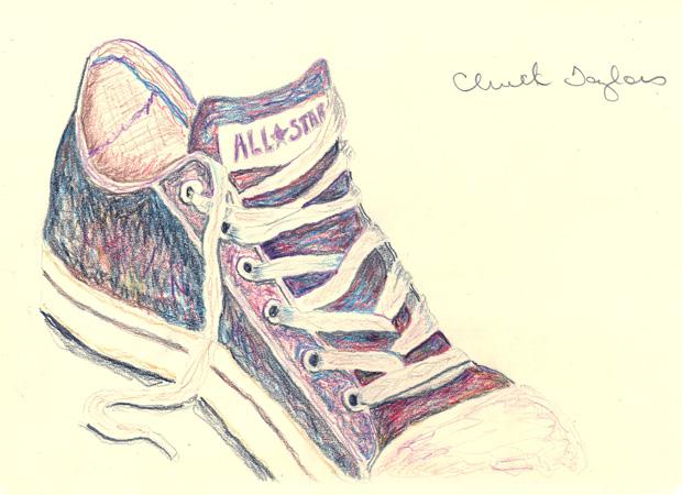Drawn shoe chuck taylors Chuck Drama Taylors Design illustration