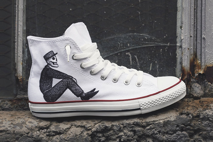 Drawn shoe chuck taylors  Converse Shop Our Custom