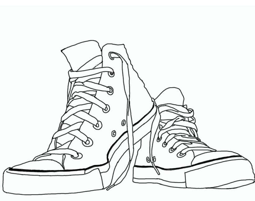 Drawn shoe chuck taylors Sketches Simple Chuck design Simple