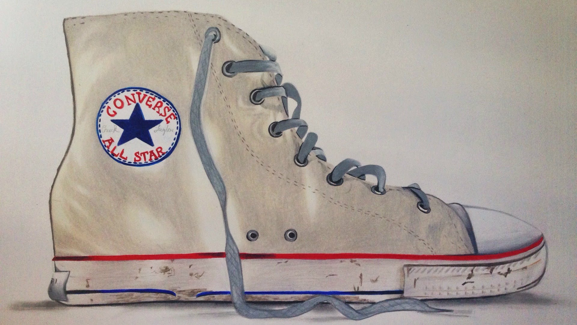 Drawn shoe chuck taylors Converse Chuck YouTube Converse Chuck