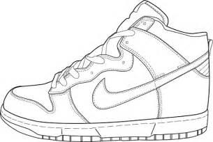 Drawn shoe coloring page #11