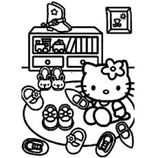 Drawn shoe coloring page #9