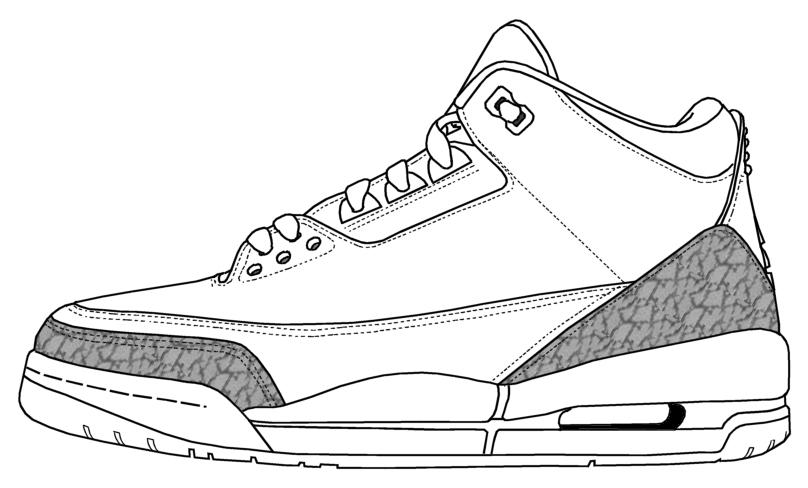 Drawn shoe coloring page #3