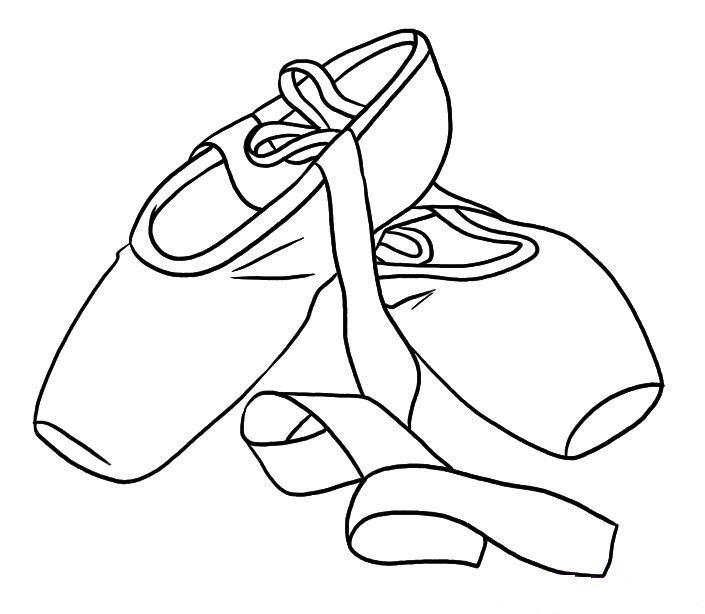 Ballerine clipart coloring #2