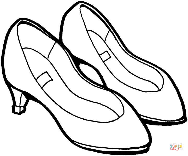 Drawn shoe coloring sheet Coloring Shoes page Printable Pages