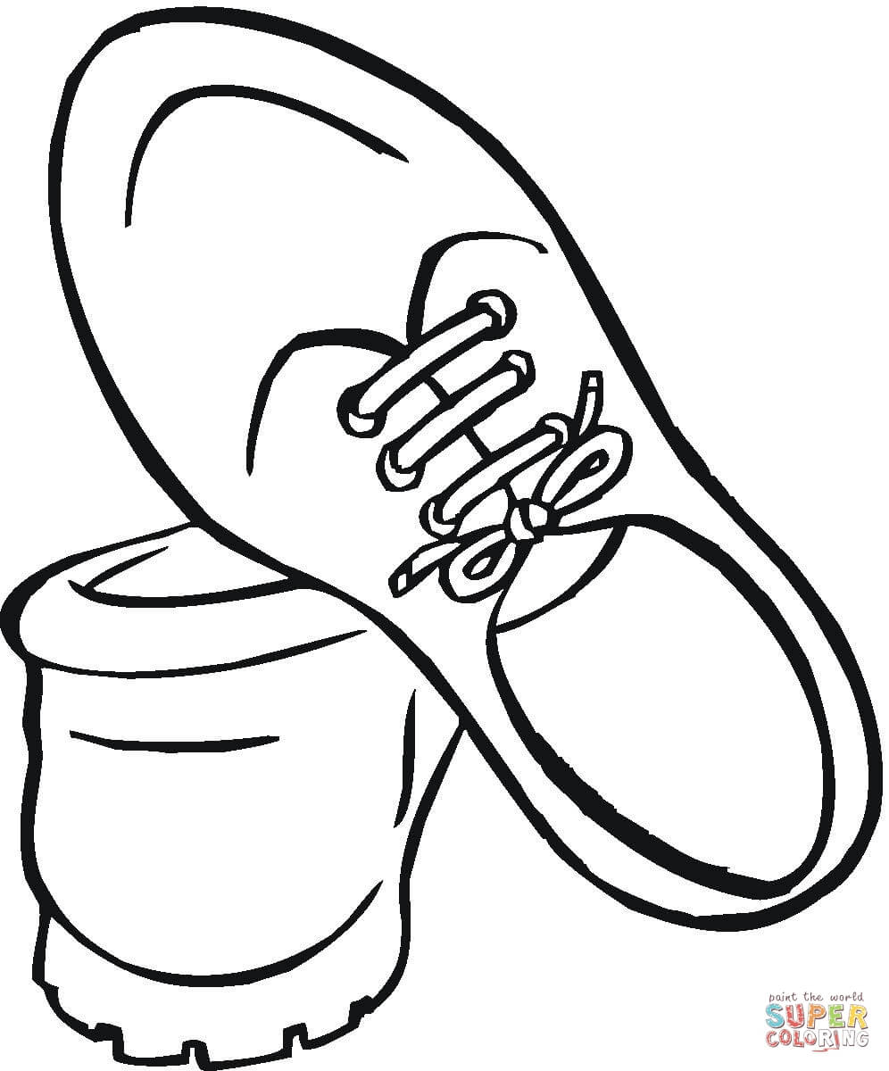 Drawn shoe coloring sheet Coloring For page Printable Pages