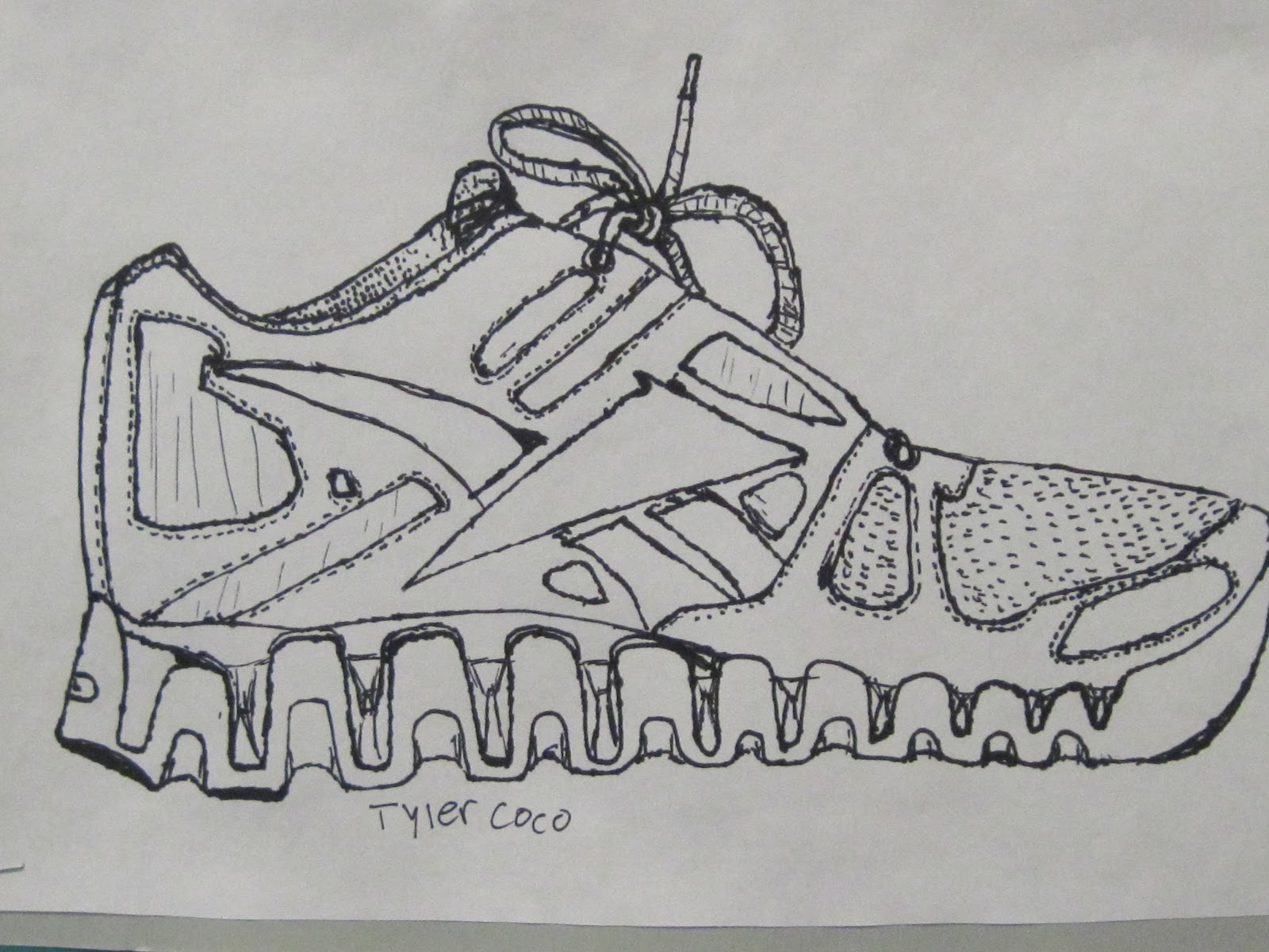 Drawn shoe contour drawing They friend's that so they