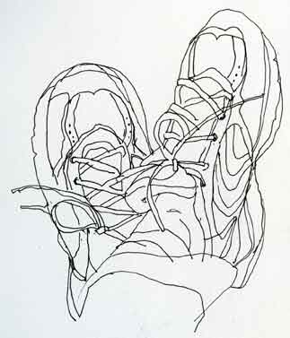 Drawn shoe contour drawing 7 Drawing BUHS Graphic Tes