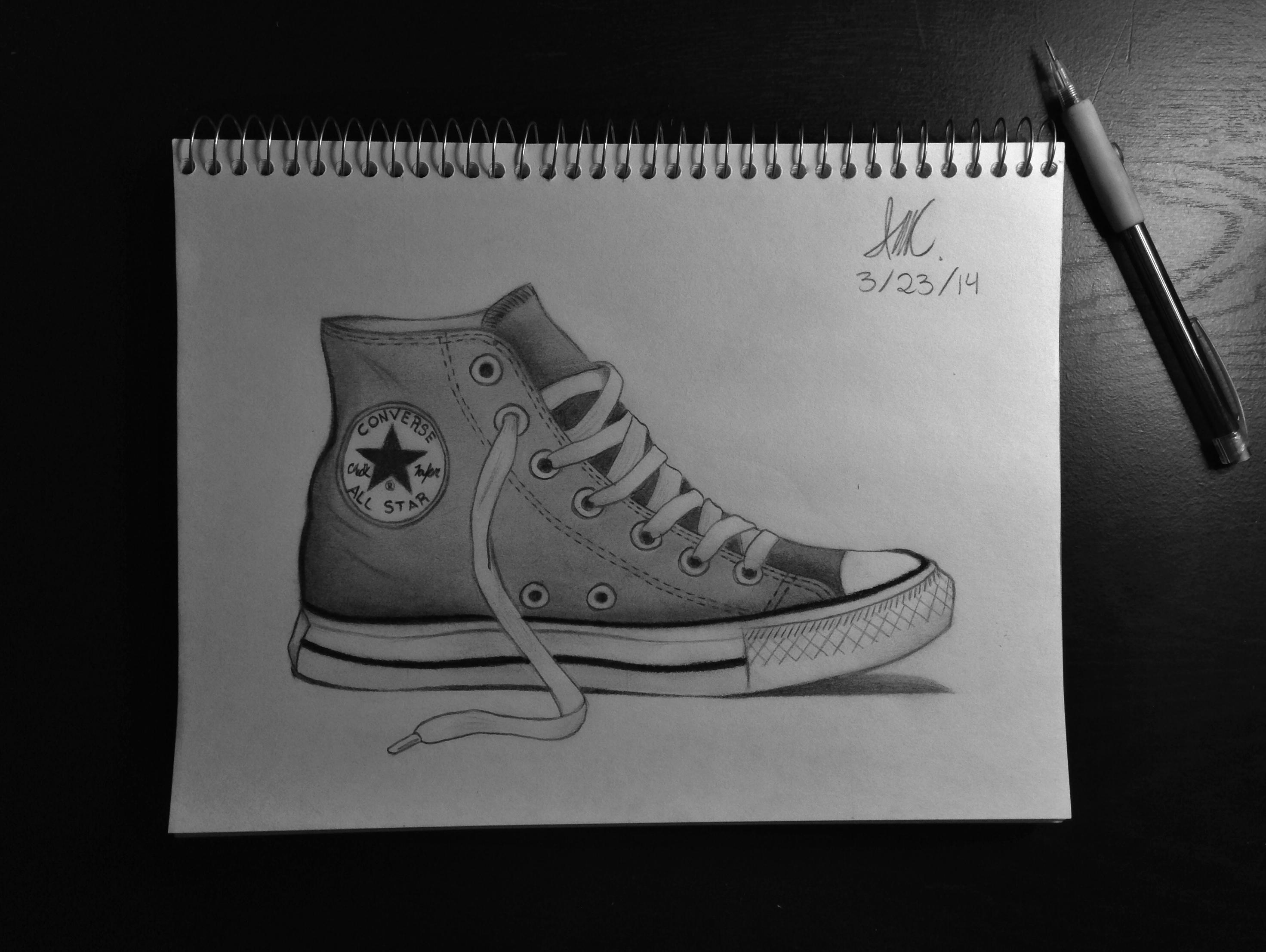 Drawn shoe converse Pinterest Converse Converse shoe My