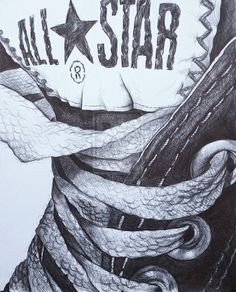 Drawn shoe converse Saatchi more art Discover The