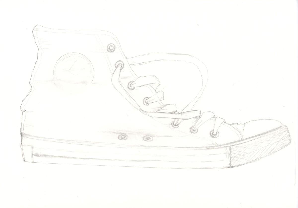Drawn shoe converse Actually draw put to you