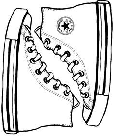 Drawn shoe converse Converse DeviantArt how on by