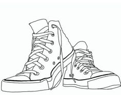 Drawn shoe converse Taylors draw step to Shoes