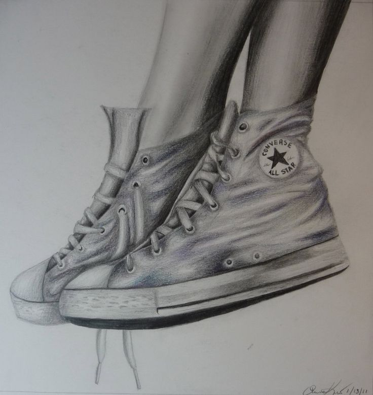 Drawn shoe converse high top On by Converse Pinterest boots