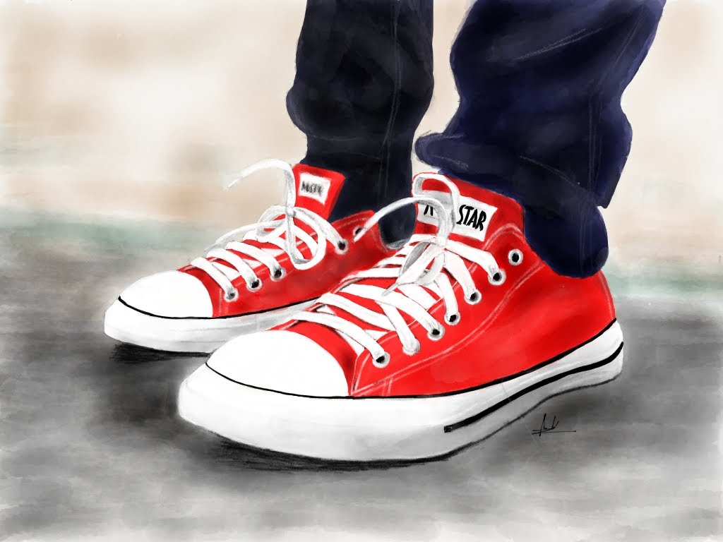 Drawn shoe converse high top Shoes Converse How 53 All