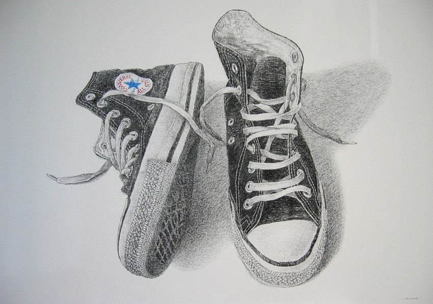 Drawn shoe converse high top Zoo To…The What The Bandit