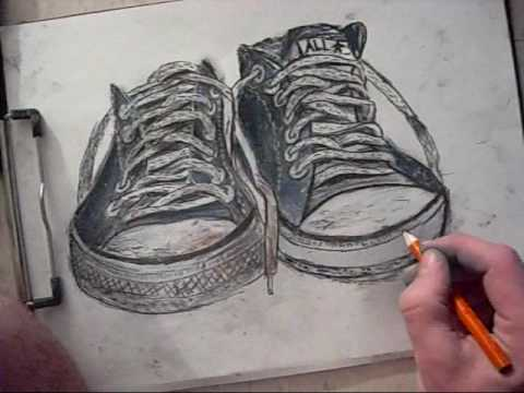 Drawn shoe converse high top Low Stars All Rise to