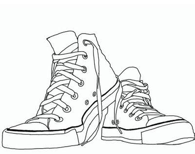 Drawn shoe converse high top ShoesConverse TopsOld Popular images Pinterest