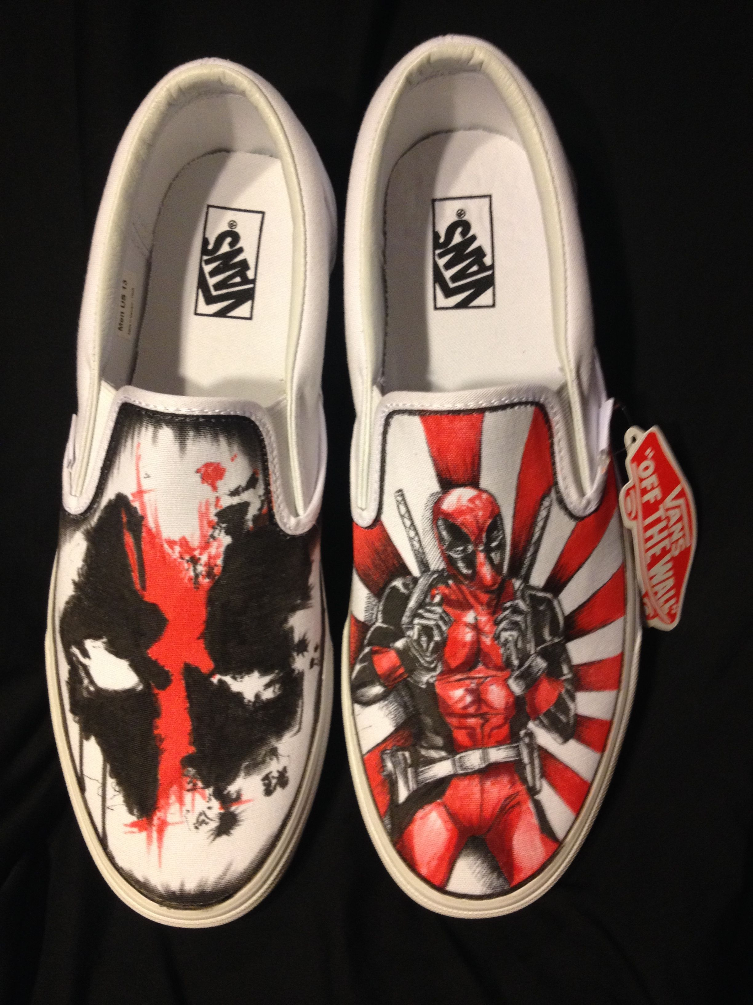 Drawn shoe custom drawn From Custom Drawn Deadpool order