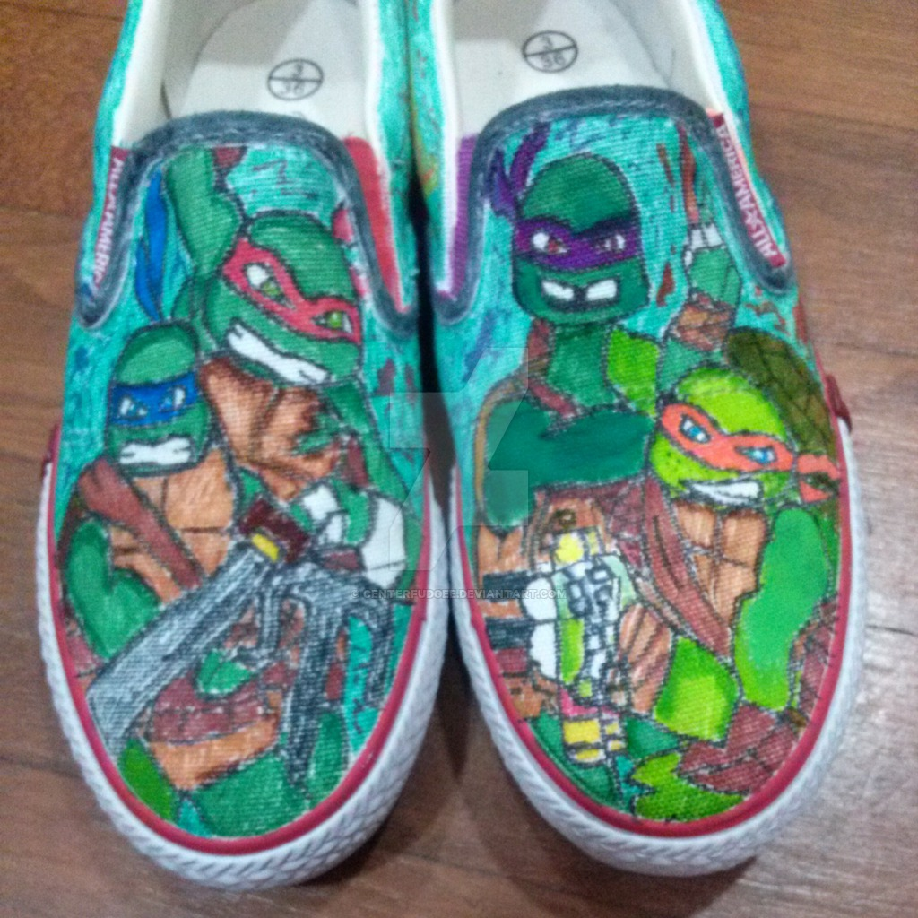 Drawn shoe custom drawn On TMNT Shoes TMNT Centerfudgee