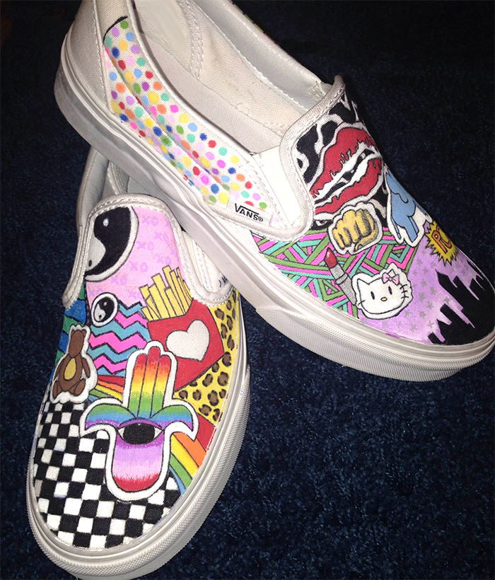 Drawn shoe custom drawn Paint Shoes I #6 #5