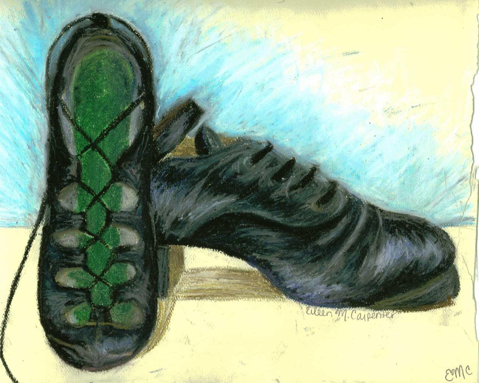 Drawn shoe dance shoe Irish livelovedraw by livelovedraw irish