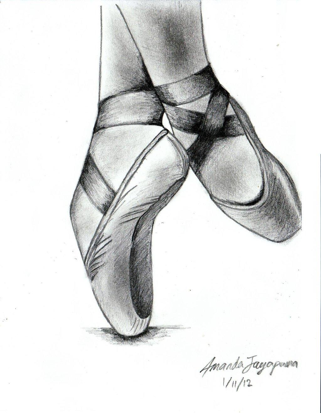 Drawn shoe dance shoe By on Ballet deviantart com