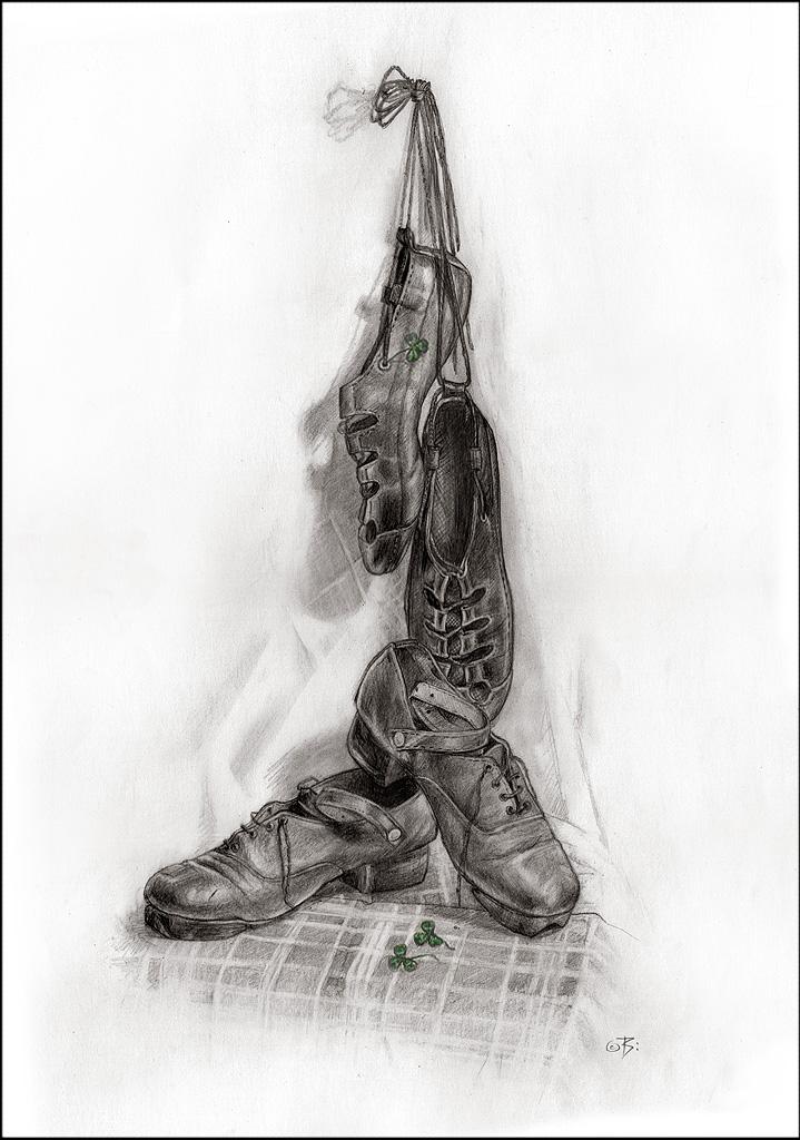 Drawn shoe dance shoe Hards Ideas Ghillies dance Irish