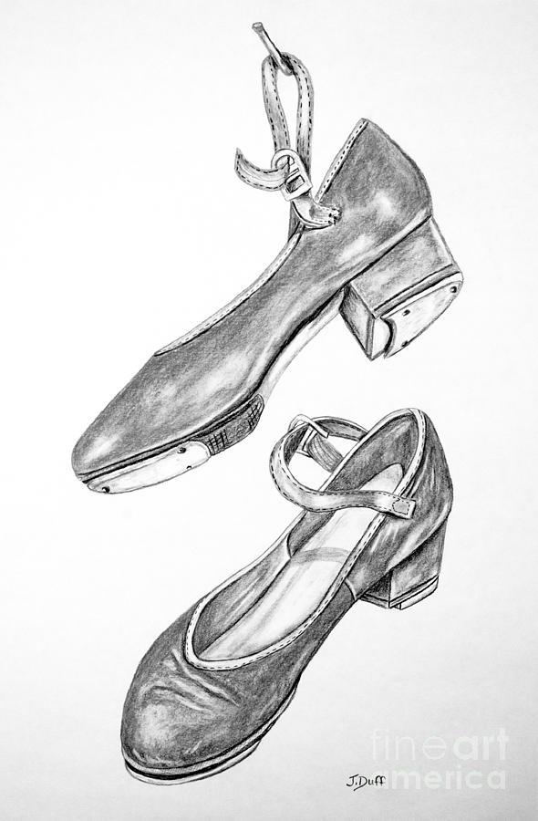 Drawn shoe dance shoe Tap Tap shoes Tap Drawings