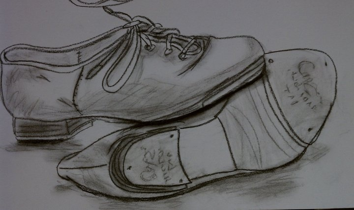 Drawn shoe dance shoe Shoes and Done shoes Conte