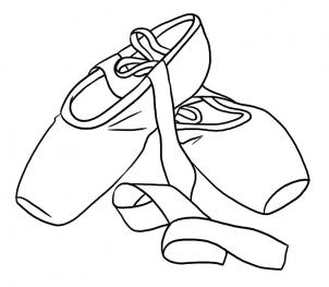 Drawn shoe dance shoe Ballet Step to shoes step