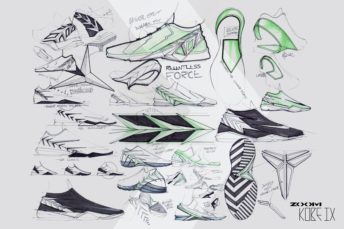 Drawn shoe design sketch basketball Created presence Lamborghini Designer: that