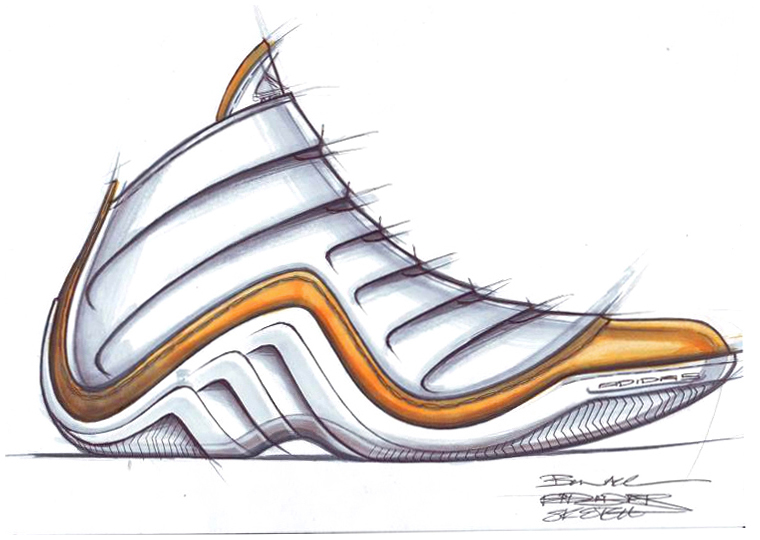 Drawn shoe design sketch basketball Basketball sketch Shoe Adidas Shoe