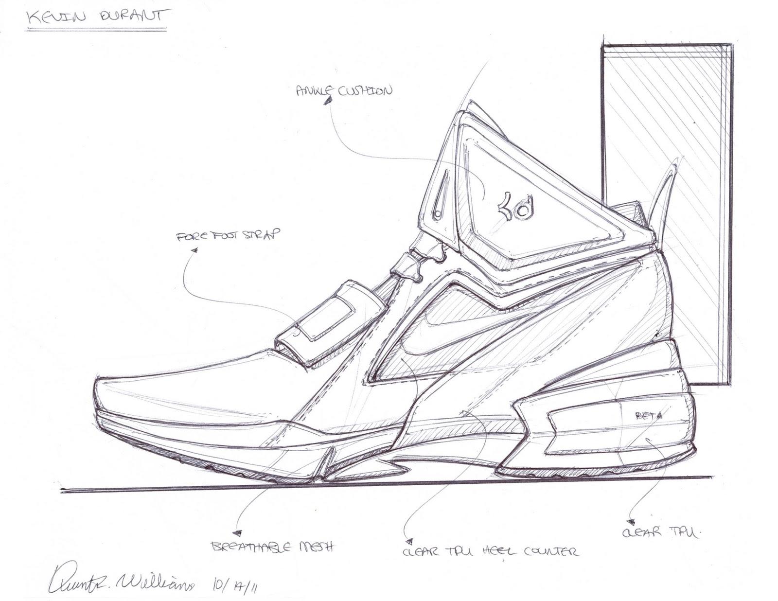 Drawn shoe design sketch basketball Sketches sketches Sketching shoe Pinterest