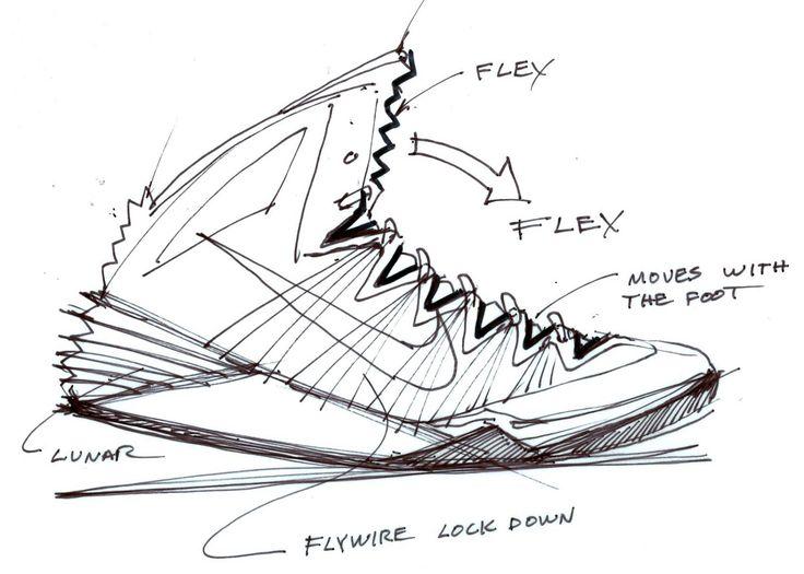 Drawn shoe design sketch basketball Best Basketball's Peter // Inside