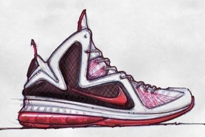 Drawn shoe design sketch basketball 09 Sketch LEBRON Basketball 2011