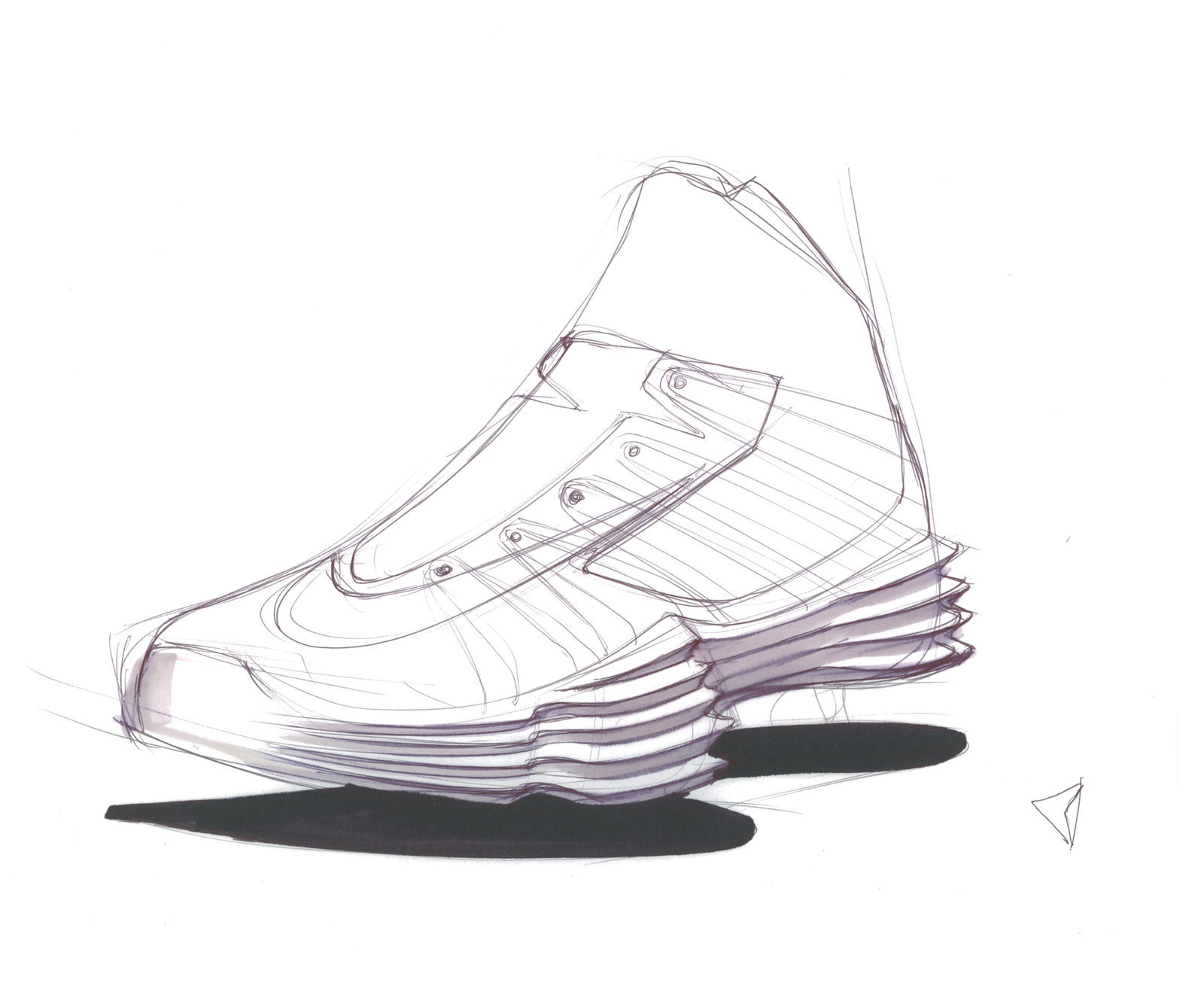 Drawn shoe design sketch basketball  Nike Basketball Image