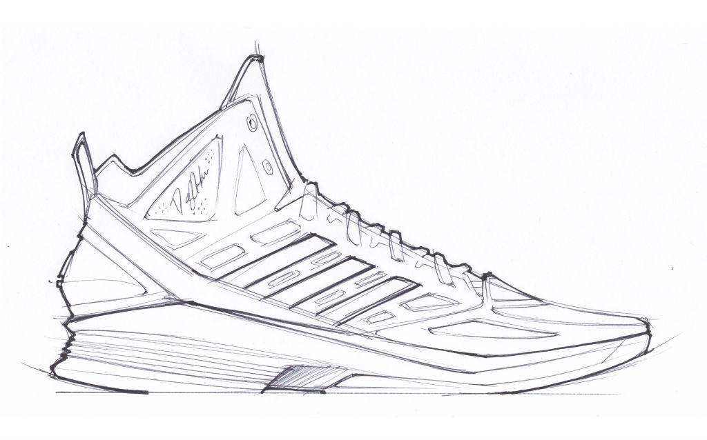 Drawn shoe design sketch basketball & design sketches con shoe